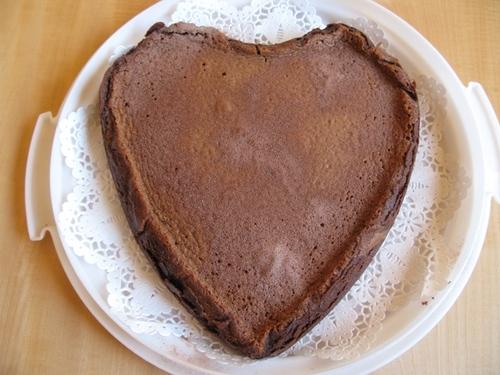 ハートのチョコタルト