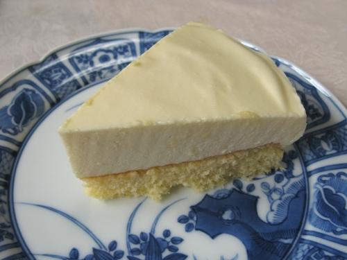 レアチーズケーキ カット面