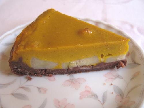 かぼちゃとバナナのチョコタルト