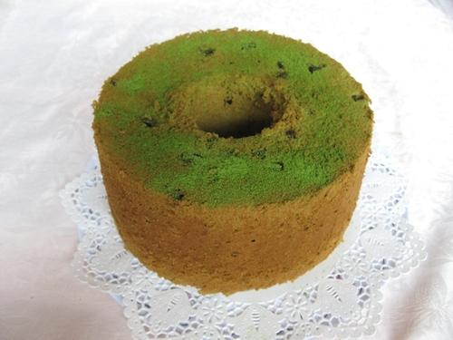 あずきとお抹茶のシフォンケーキ18cm