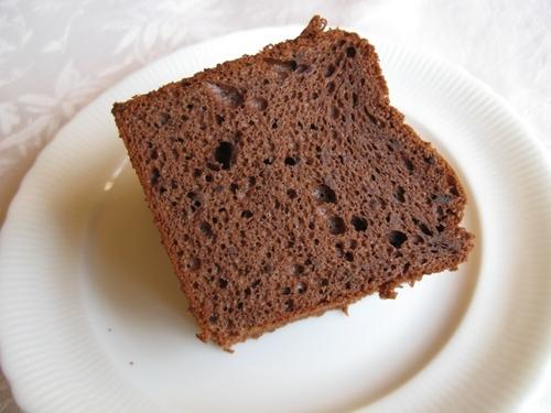 チョコバナナシフォンケーキ カット面
